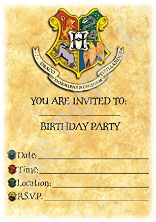 harry potter birthday invitations uk