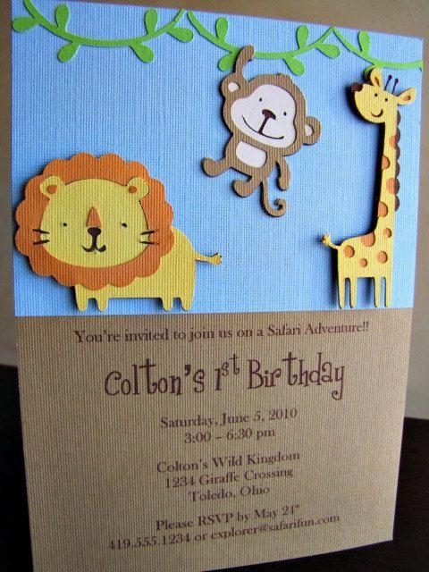 homemade safari birthday invitations