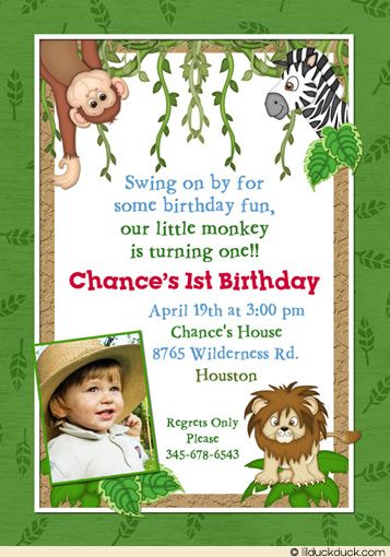 jungle safari birthday invitations wording