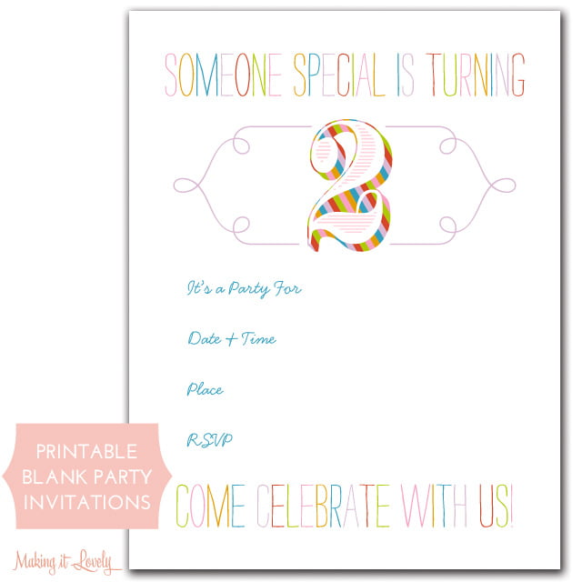 make your own birthday invitations free and printable