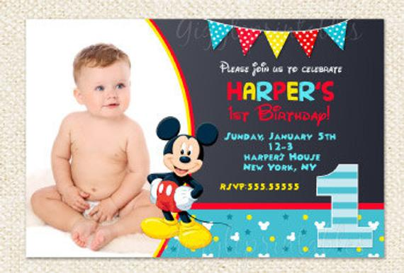 mickey mouse first birthday invitations uk