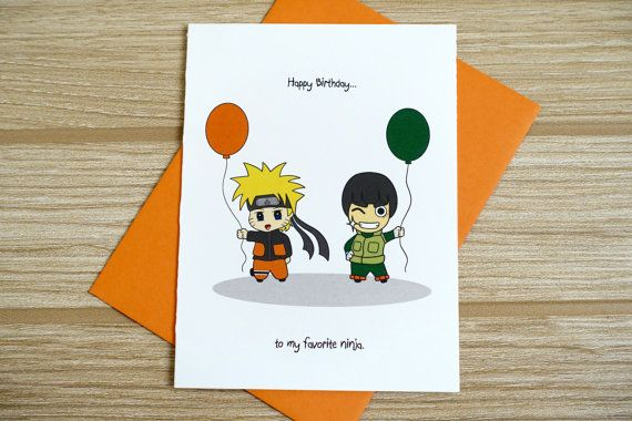 naruto birthday card online