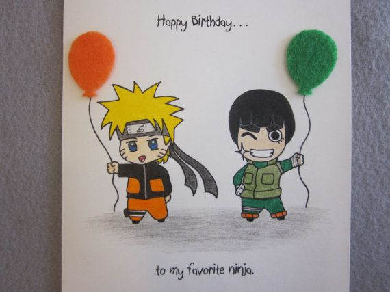 naruto birthday card printable