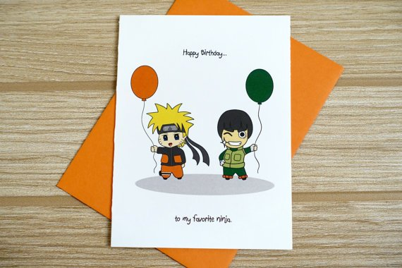 naruto birthday cards uk