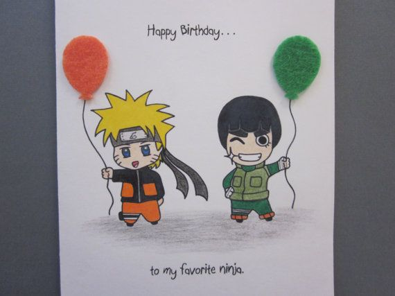 naruto birthday cards