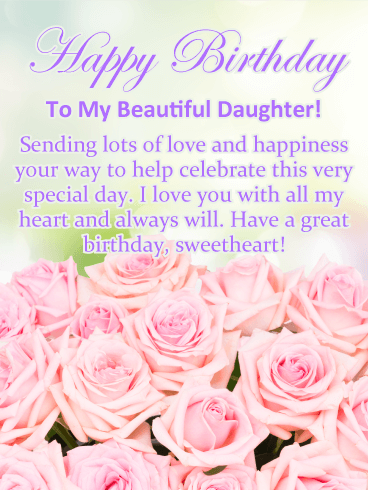 pictures of birthday cards for daughters
