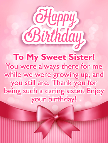 pictures of birthday cards for sisters