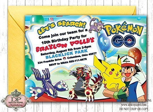 pokemon birthday invitations wording