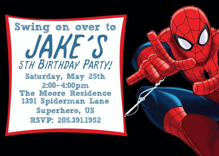 spiderman birthday invitations templates