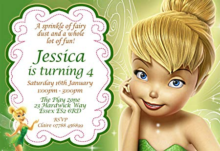 tinkerbell birthday invitation ecards