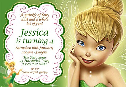 tinkerbell birthday invitations uk