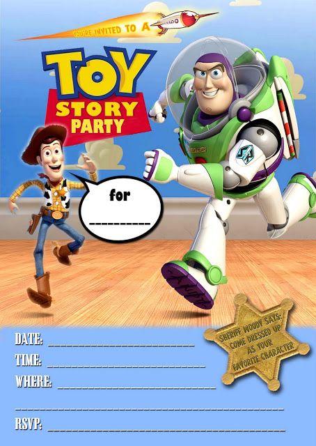 toy story birthday invitations free