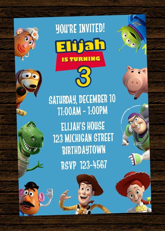 toy story birthday party invitations free
