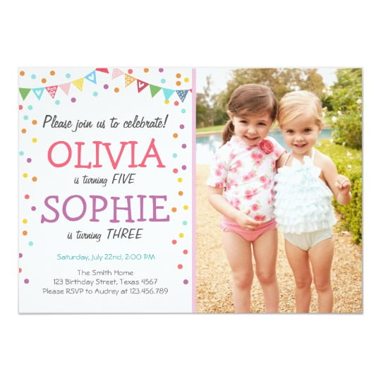 twin birthday invitations uk