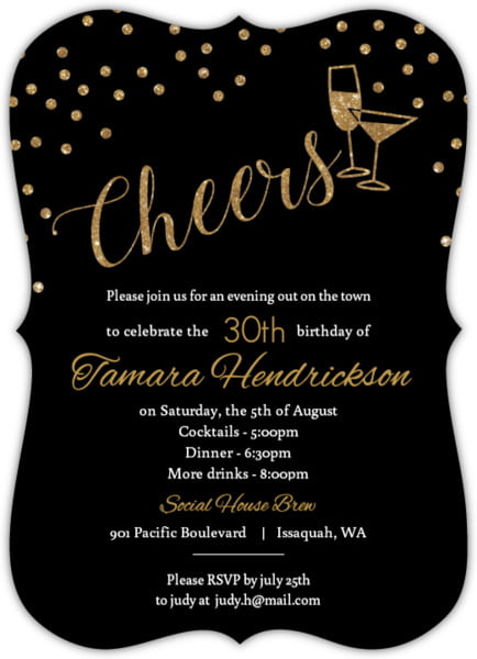 wording a 30th birthday invitation