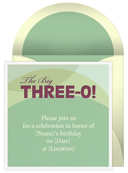 wording for a 30th birthday invitation funny